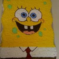 Sponge Bob This was my first character/3 D cake.