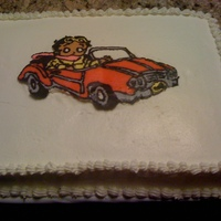 Betty Boop This cake was made for a neighbor, she wanted a just because cake and asked if I could put Betty Boop in a car. This is a cake transfer, it...