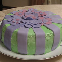 Green And Puple Flower Cake it was a lovely second time cake