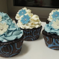 Brown And Blue Cupcakes