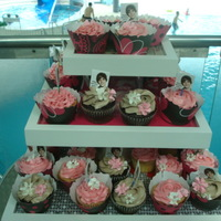 My First Birthday Cupcakes For My Daughter Strawberry and Chocolate cupcakes. My daughter picked out the cupcake wrappers and Justin Bieber cupcake toppers. I really liked how the...