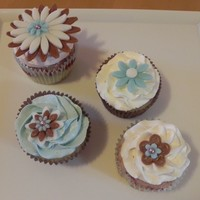 Blue And Brown Cupcakes