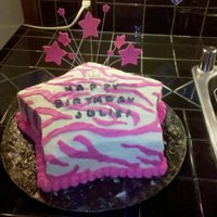 Zebra Stars I did this cake for a friends 24th birthday. She loves pink and zebra print