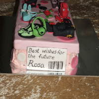 Shoe And Bag Cake Cake made for a colleague's farewell.