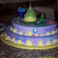 Princess And The Frog  This cake was for my niece's 3rd birthday! She is a princess herself and had just saw the movie so of course that is what she wanted...