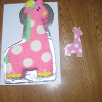 Pink Giraffe Made it from the invitation design for a friend...