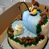 Fishing Cake   I did this for my friends Birthday. The decorations are all fondant.