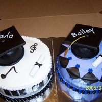 My Two Nieces Grad Cakes!
