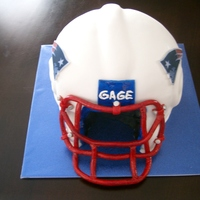 New England Patriots Helmet Cake This is a cake of a New England Patriots Helmet