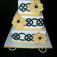 Yellow Flowers Cake