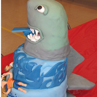 Phineas And Ferb Attacked By A Shark This cake was for my friend's son who wanted a shark and Phineas and Ferb cake. I decided to have Dr. Doofenshmirtz create a shark-...