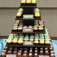 Cupcakes!!!! My husband built me this cupcake stand..... It holds 209 Cupcakes! A bride had us do a cupcake buffet at her wedding reception. We had 5...