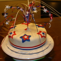 Fondant Fireworks 4Th Of July