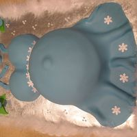 Belly Cake   Another Belly cake I LOVE making this cake. French vanilla cake covered and decorated in MMF