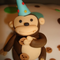 Second Fondant Cake...cake Misshap -Eek My first cake order and of course something went wrong, but my monkey turned out quite nicely and the parents were still quite happy and...