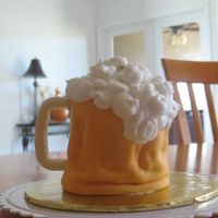 Beer Mug  Cake I did for my dad...however as you can tell from this picture it started leaning badly. I used the Wilton Mini Tasty Fill pan so I...