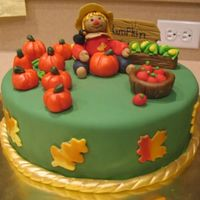 Pumpkin Patch I just entered this cake in a contest that was being held at my DH's workplace. I won 1st Place! I was so happy because I was really...