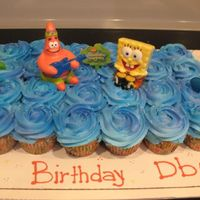 Sponge Bob Cupcakes Cupcakes for my son's class. Sponge Bob Topper from Publix yellow cupcakes buttercream topping