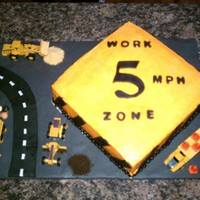5Th Birthday Cake This is a butter cream iced cake with fondant accents. The parents wanted a construction sign for the cake and the birthday boy wanted a...