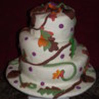 Fall Topsy-Turvy 2010 Berlin Fair Winner  This is a 3 tier fall theme cake. I entered in the Berlin Fair and took first place. I wish I had a close up the detail on the leaves and...