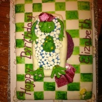 Mother Frog Birthday Cake This was the first cake a friend and I did together for another friends birthday!