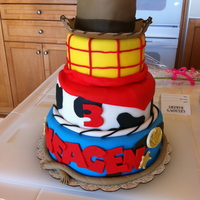 Toy Story Woody Cake   Had a request to make a cake similar to one a friend found online
