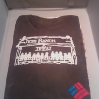 Bankers And Brownies This one is made out of brownies. I made it for one of Bank of Americas opening days. Its a replica of the shirts the employee wore.