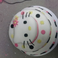 Hello Hello Kitty My roomate and I made this one for her cousin's daughter's birthday. I did the hello kitty face and some of the decorations on...