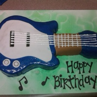 The Music To My Tummy This one is actually made of rice krispies, and we used a cake mold to get the shape of the guitar.