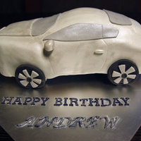 Bentley Continental Gt Cake   coffee flavoured cake with mocha bc, covered in MMF