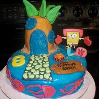 Karate Spongebob! For a boy i babysit who is turning 8!