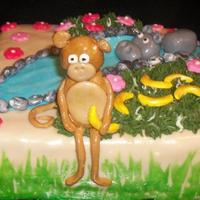 Jungle monkey and a hippo, for a little girl and boy.. everything is mmf :)