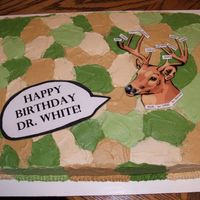 Dscf0418.jpg   Camo birthday cake for a doctor I work with--put the names of everyone in the office on the antlers!