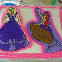 Chloe And Lacy's Birthday 2006 This is another attempt at a buttercream transfer. Things just kept going wrong. Cinderella broke when I tried to put in on the cake. They...