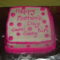 2006 Mother's Day Cake Quick and simple Mother's day cake for three.