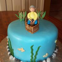 Fishing This cake was inspired by so many wonderful cakes here on cake central. Thanks for the inspiration.