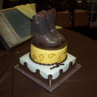 Cowboy Boot Cake I am a newbie to cake decorating and find so much inspiration from this sight. This cake was inspired by DianeLM and susaneholcomb...thank-...