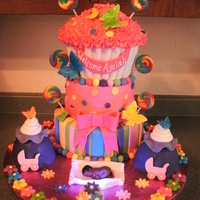 Candyland Babyshower This one took me longer than what I expected to decorate...I think next time I will make flower and dots ahead of time....that should cut...