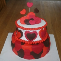Valentines Day Cake! Chocolate Mud cake with chocolate-caramel ganache