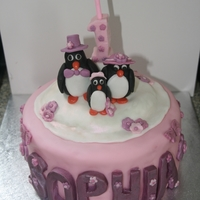 Penguin 1St Birthday Cake