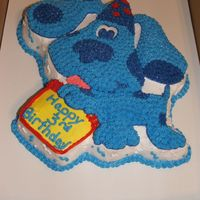 Dscf0431.jpg  Blues Clues - Friend wanted this for her twins (a boy and girl). I did the Blues Clues cake and did individual cakes for each child (in...