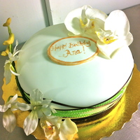 Orchids Birthday Cake