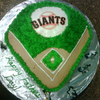 Giants Birthday Cake My hubby is a Giants fanatic. I wanted to make him something special for him for Father's day. It's all whipped cream, chocolate...
