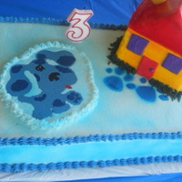 Blue's Clues Birthday Cake I made this one for my son, this past weekend, he turned 3 years old. It's white cake with raspberry filling (found the filling recipe...