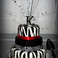 Sweet 16 Zebra Cake My mom and I made thisfor my Sweet 16. Neither of us have taken ANY sort of cake class and this is only the second one my mom has done and...