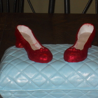 Ruby Slippers   My first attempt at heels! I wish they were cleaner but I loved using the diso dust to make them sparkle