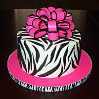 Zebra And Loopy Bow Another version of my pink and zebra cake