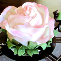 Teapot Rose Cake. Teapot Rose Cake done for a fun tea party photoshoot!