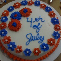 4Th Of July All buttercream Fourth of July cake. This was my final cake for my first Wilton course.