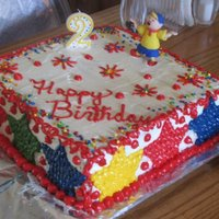 Caillou Birthday Cake This cake was for a 2 year old's birthday that has the Caillou character on it-Caillou is a PBS character